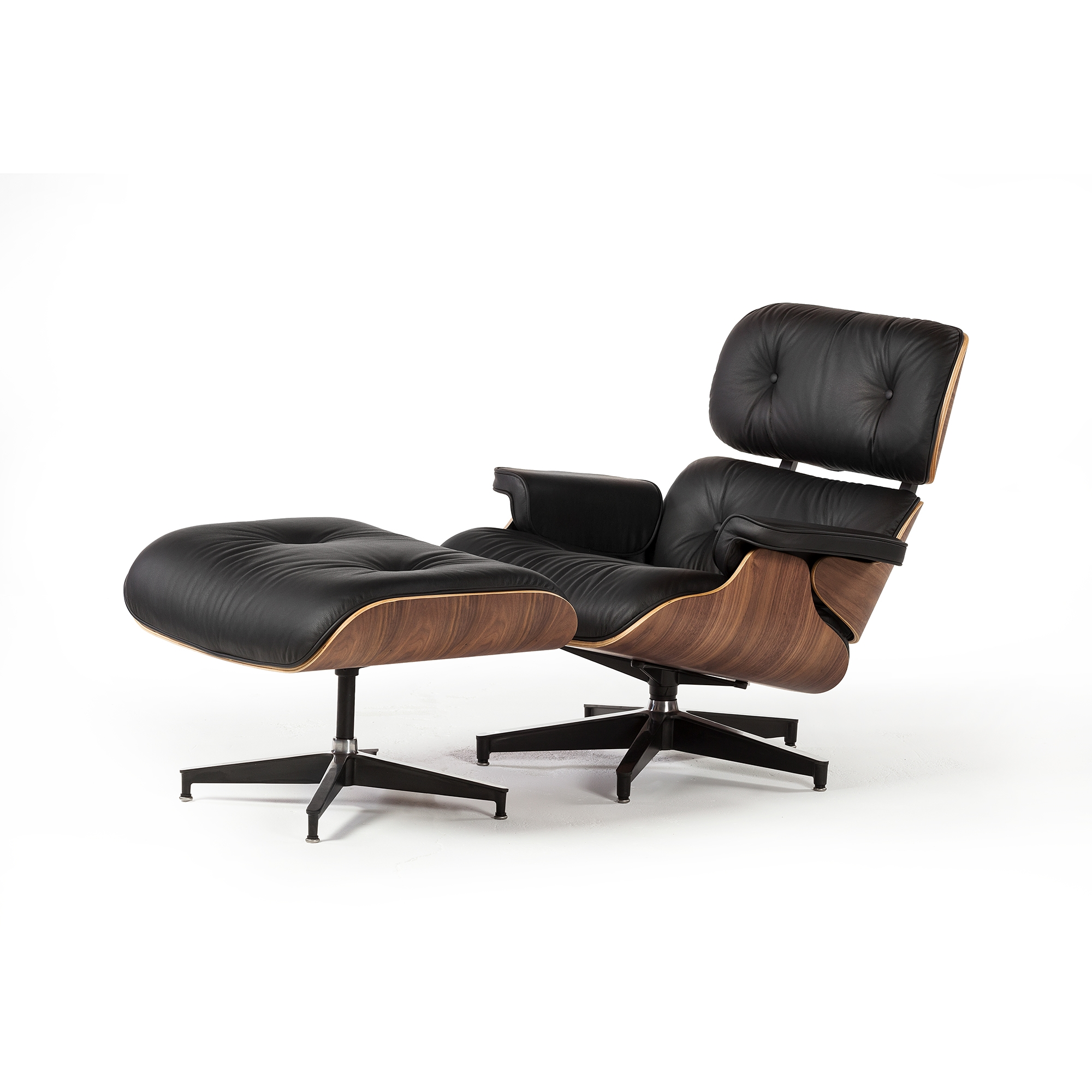 Eames Chair Leather eames lounge chair with ottoman, the khazana home austin furniture