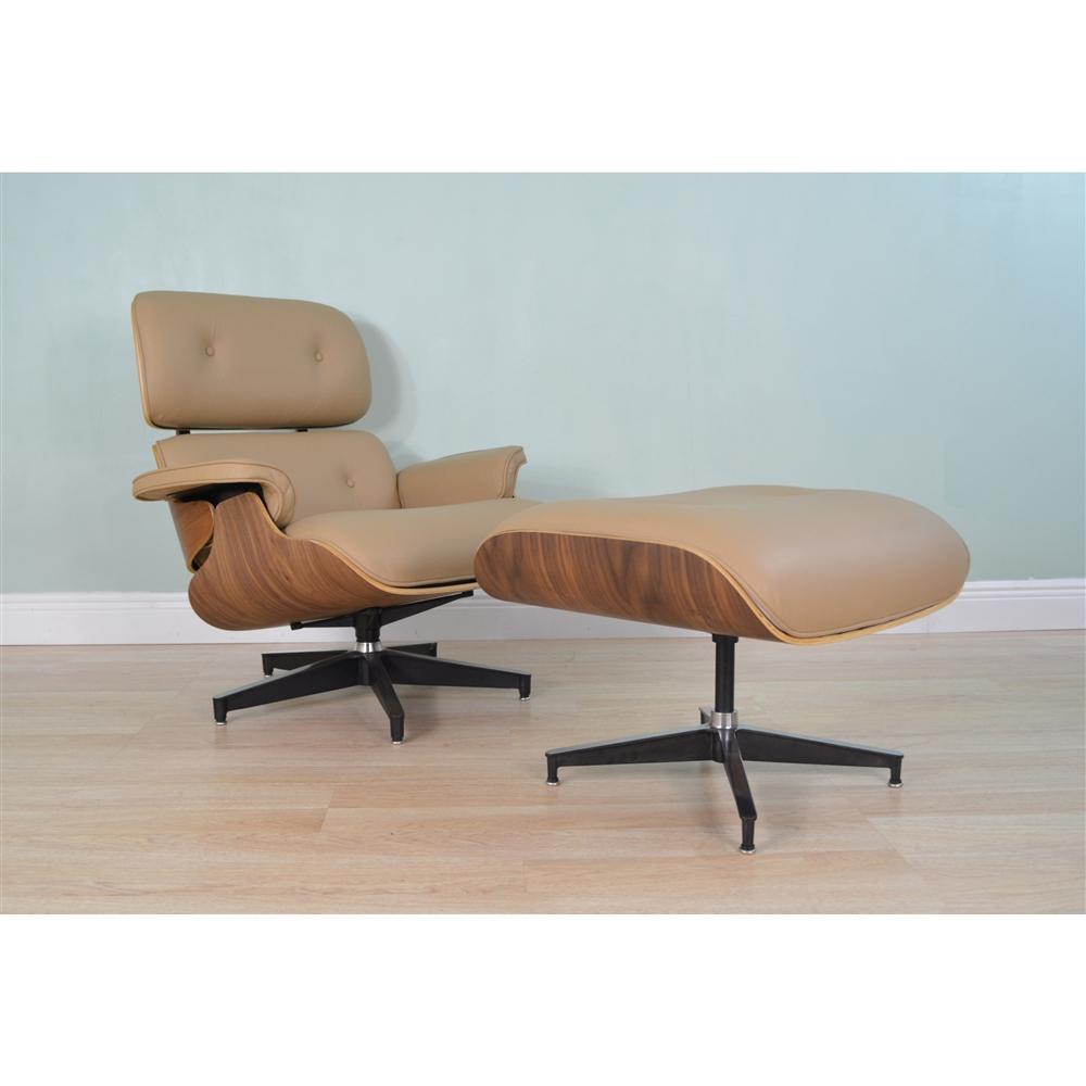 Eames Chair With Ottoman Eames Lounge Chair Ottoman Beige The Khazana Home Austin