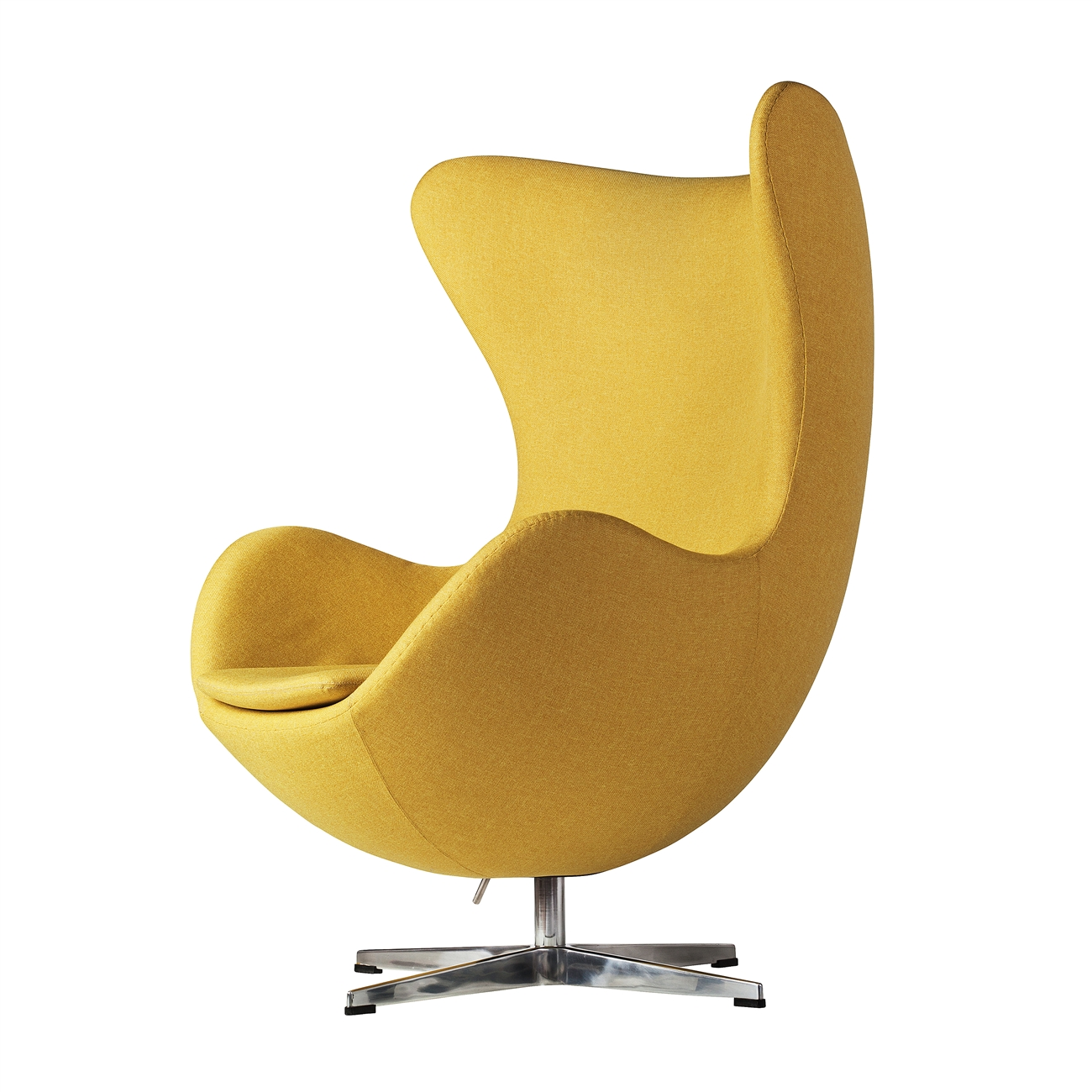 Arne Jacobsen Inspired Egg Swivel Chair In Yellow