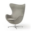 Arne Jacobsen Inspired Egg Swivel Chair In Grey