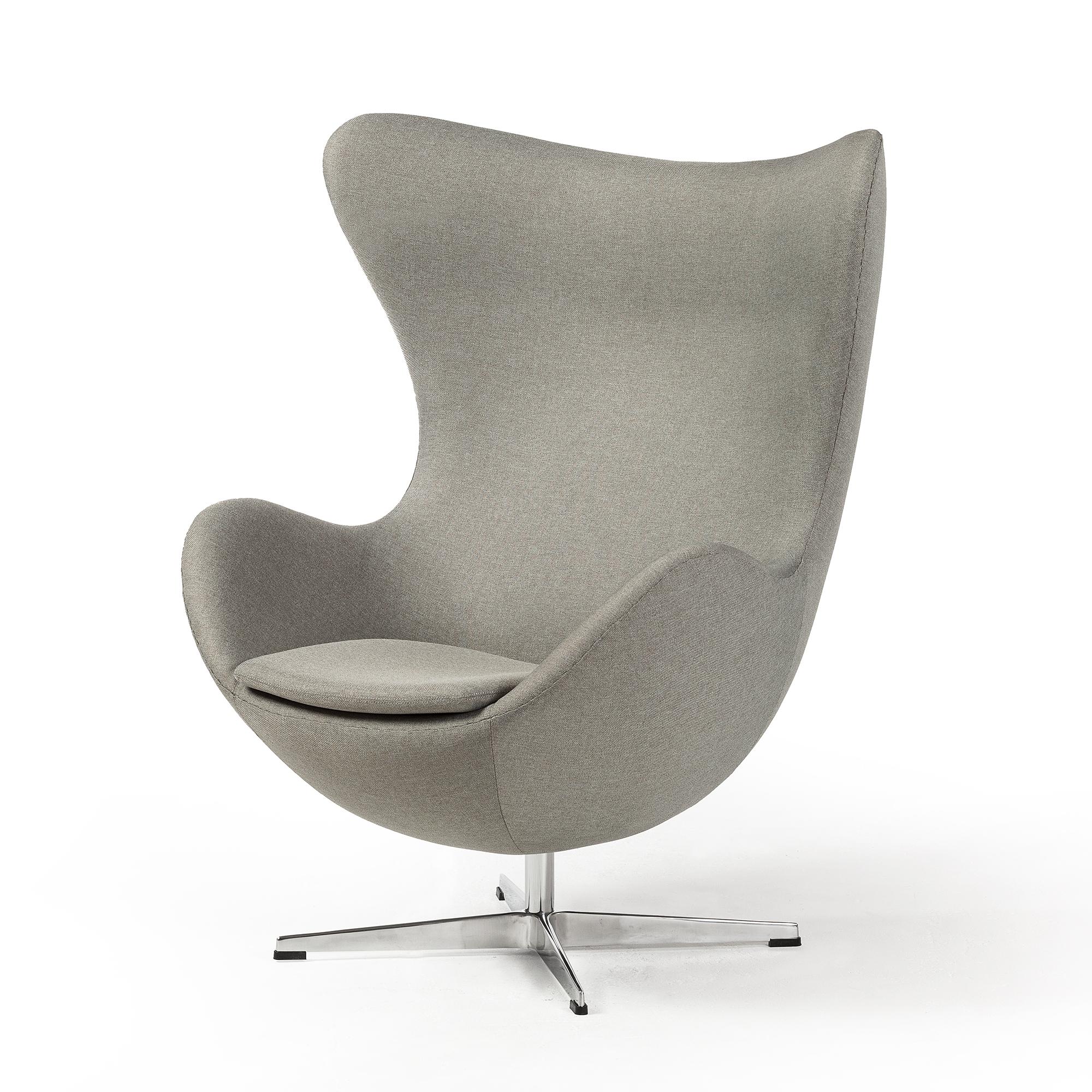 Arne Jacobsen Egg Chair.Arne Jacobsen Inspired Egg Swivel Chair In Grey The Khazana