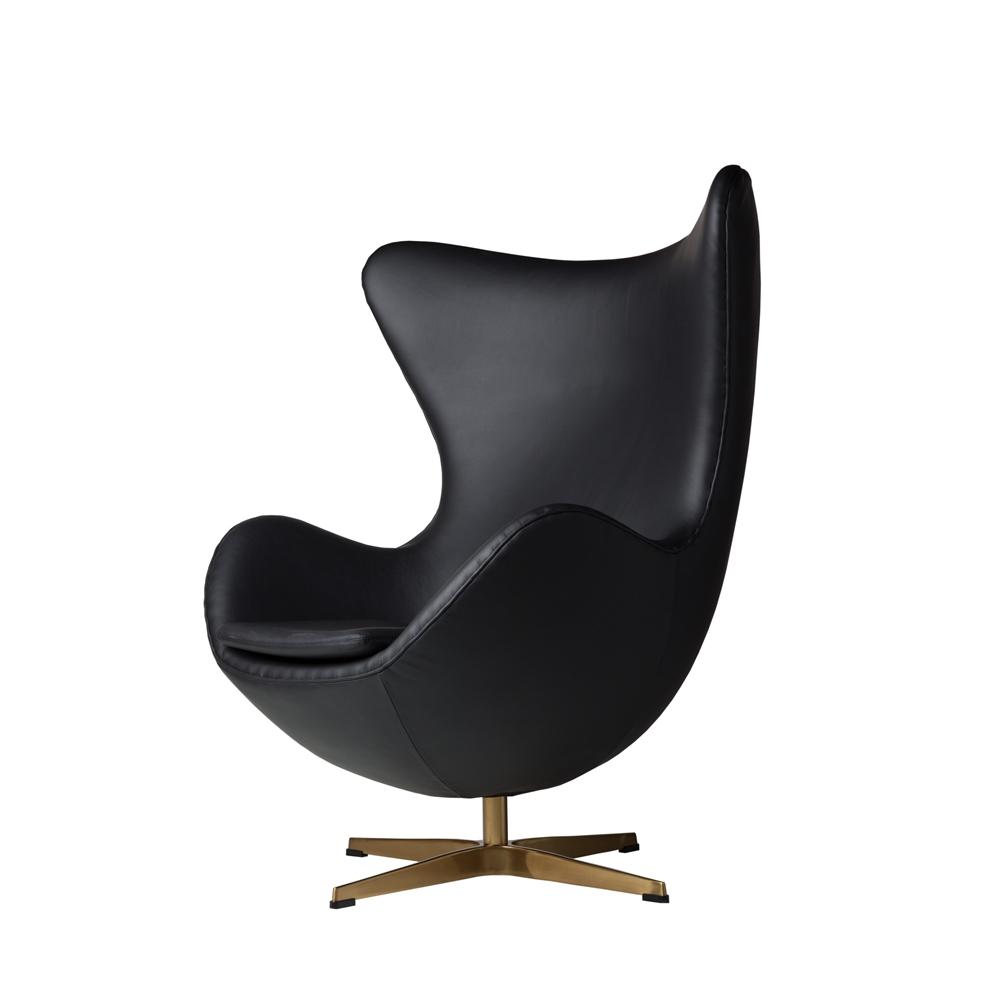 Arne Jacobsen Inspired Egg Swivel Chair In Black The Khazana Home Austin Furniture