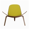 Hans Wegner Shell Inspired Chair 07 in Yellow