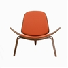 Hans Wegner Shell Inspired Chair 07 in Orange