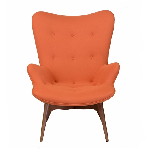 Featherston Style Contour Chair in Orange
