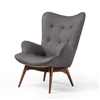 Featherston Style Contour Chair in Dark Grey