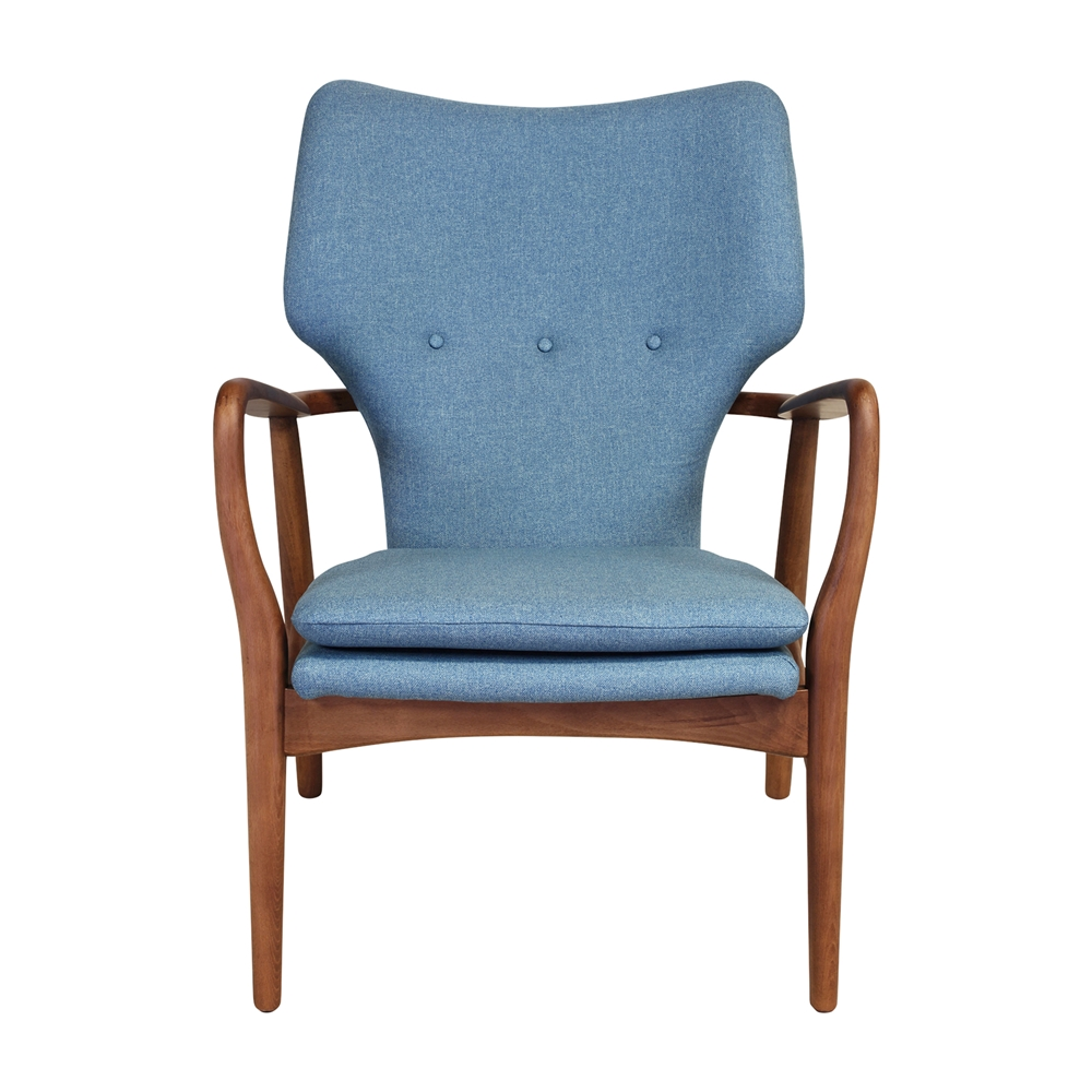 Finn Juhl Style Model 1 Chair In Blue