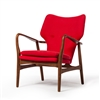 Finn Juhl Style Model 1 Chair in Red