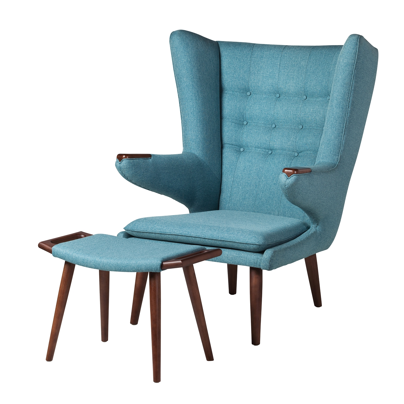 papa bear chair. Papa Bear Inspired Chair With Ottoman-Light Blue H