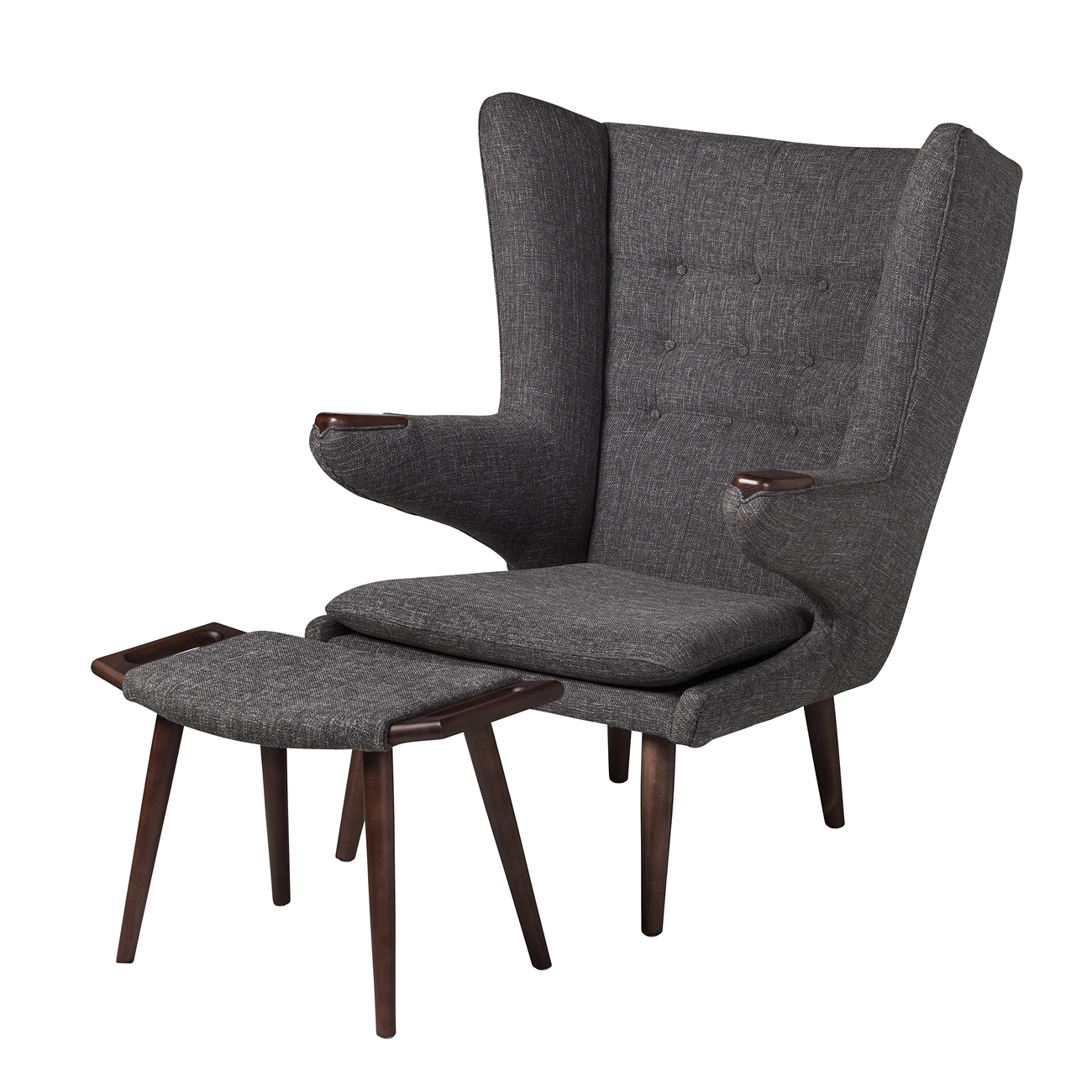 papa bear chair. Papa Bear Inspired Chair With Ottoman-Charcoal M