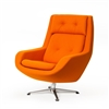 Koppla Swivel Chair, Orange