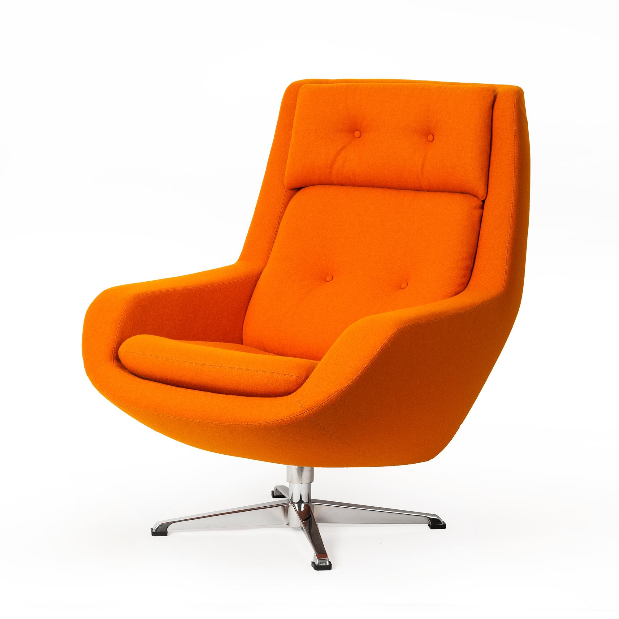 Koppla Swivel Chair  Orange. Koppla Swivel Arm Chair  Orange  The Khazana Home Austin Furniture