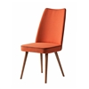 Albina Upholstered Dining Chair in Orange