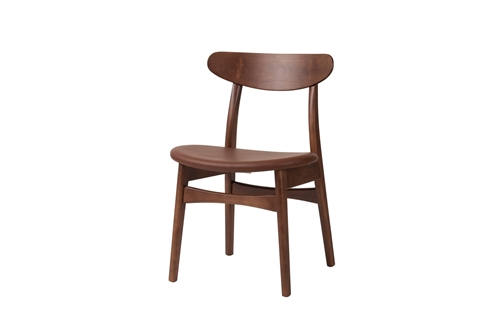 Ester Side Chair in Brown Leather