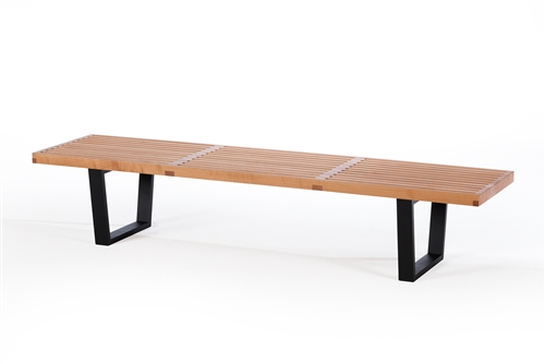 "George Nelson Style 72"" Bench with American Walnut Finish"