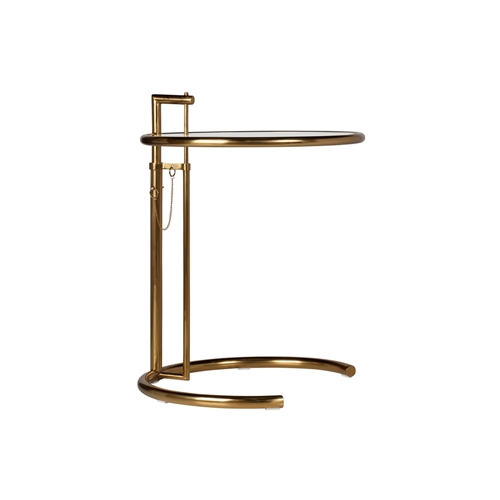 Adjustable Side Table in Gold