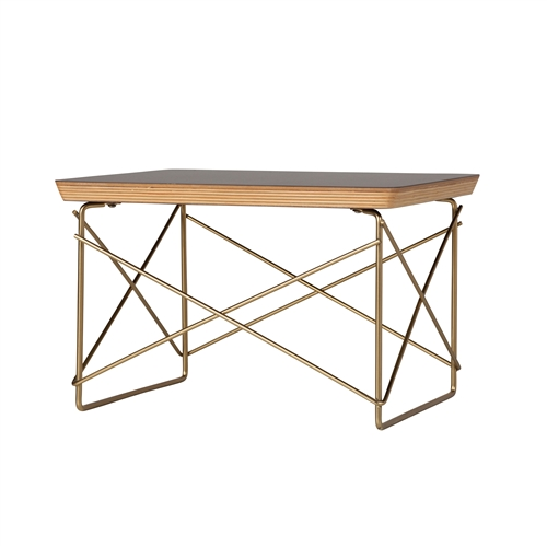 Wire Base Low Table in Gold