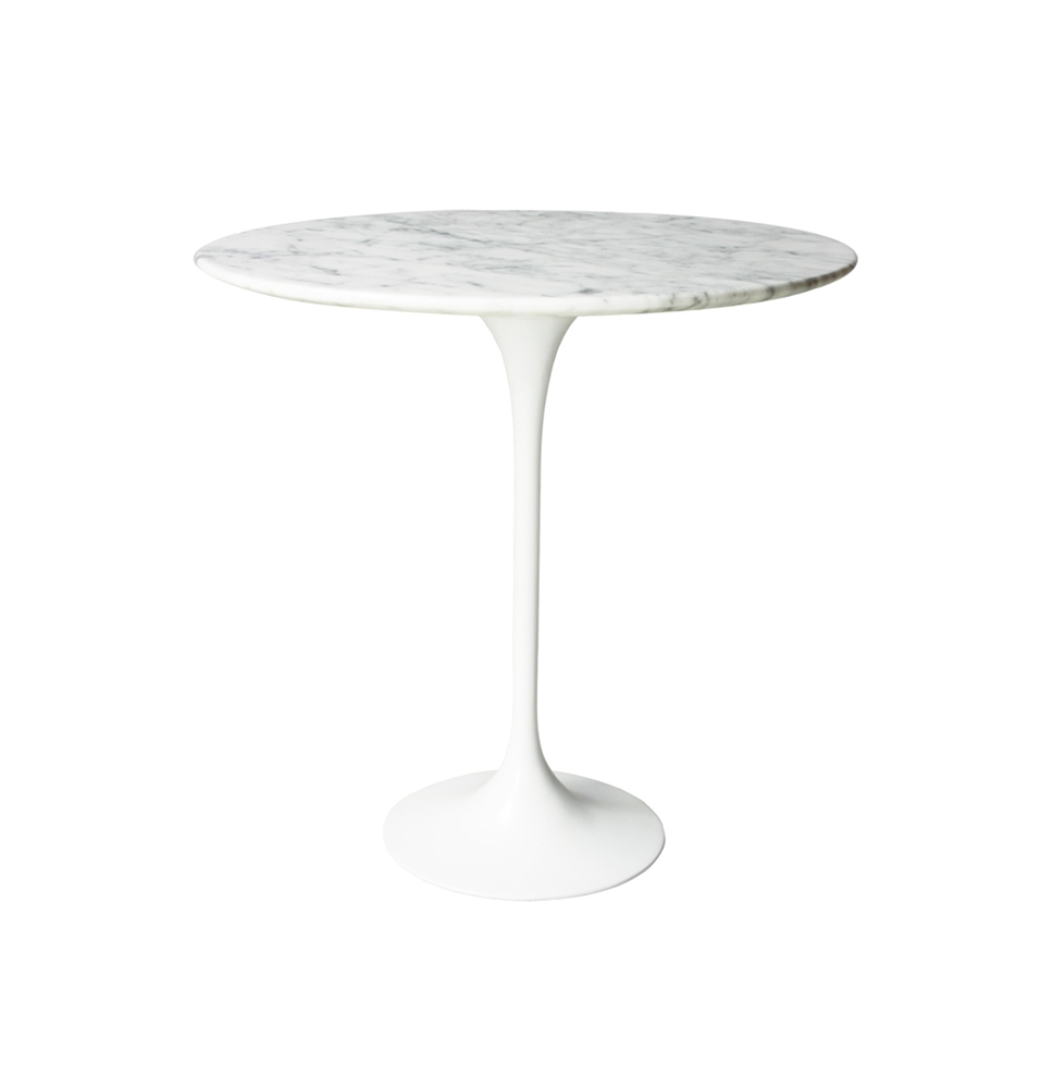 Saarinen Style Tulip Marble Side Table The Khazana Home Austin - Saarinen carrara marble table