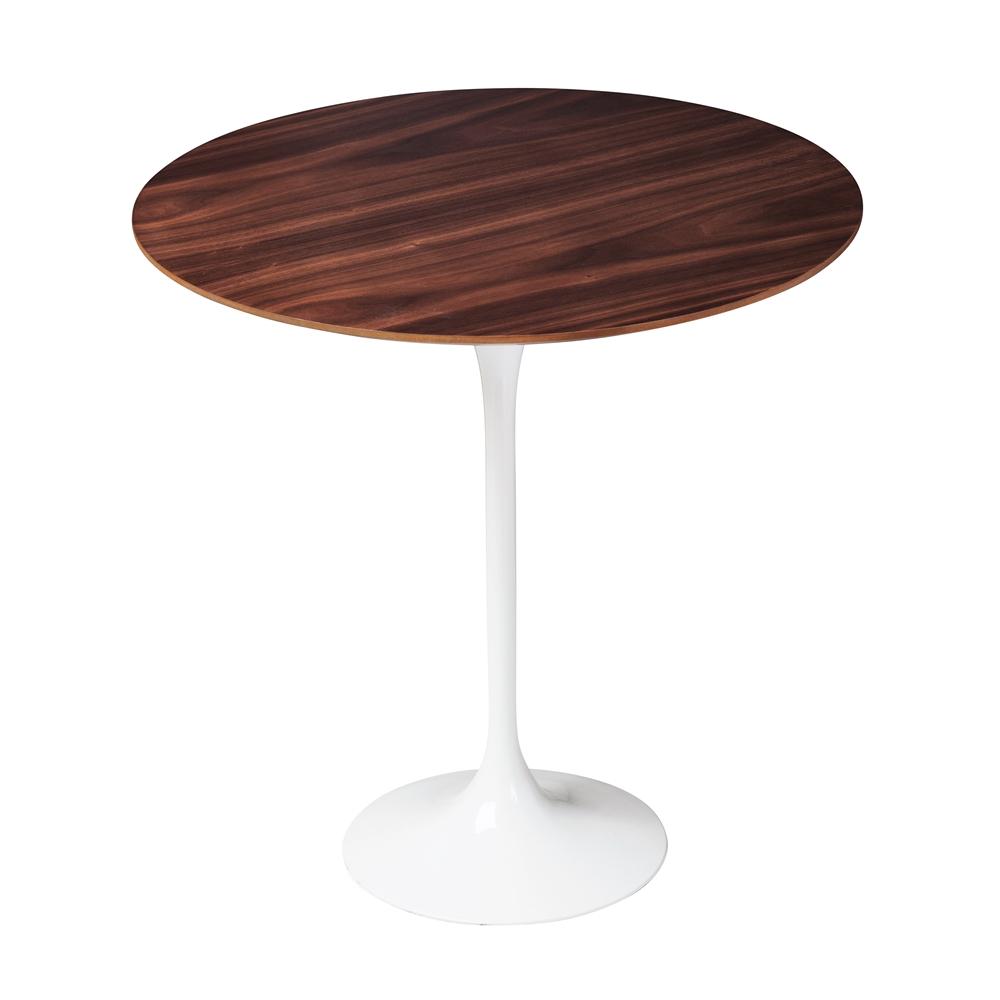Saarinen Style Tulip Walnut Side Table, Design Tree Home, The Khazana