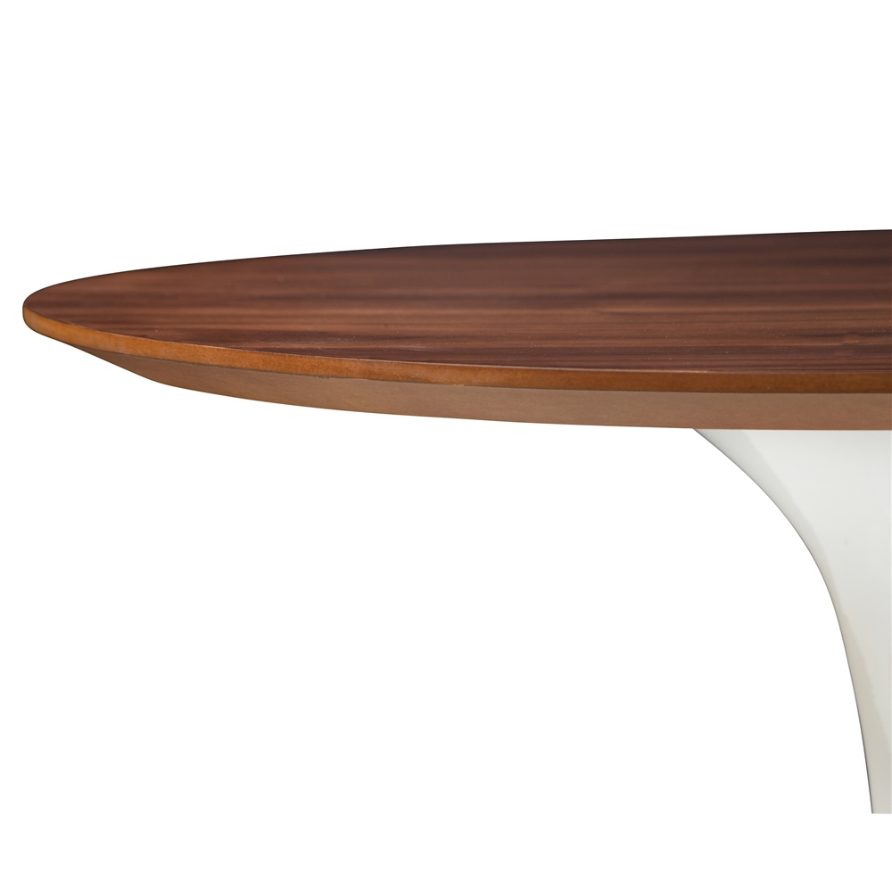 Saarinen Style Tulip Walnut Side Table