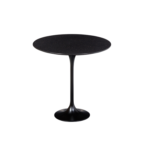 Saarinen Style Tulip Granite Side Table