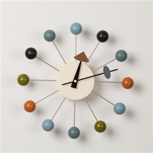 George Nelson Ball Clock - Multi Color