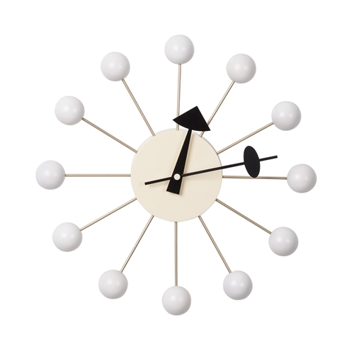 George Nelson Ball Clock - White
