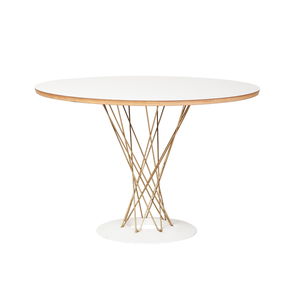 Noguchi Cyclone Dining Table in Gold
