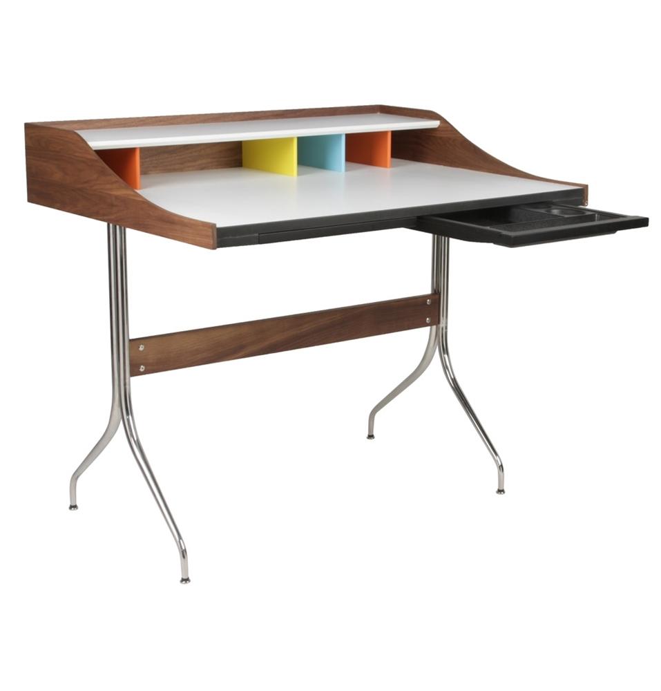 Nelson Swag Leg Desk , The Khazana Home Austin Furniture Store