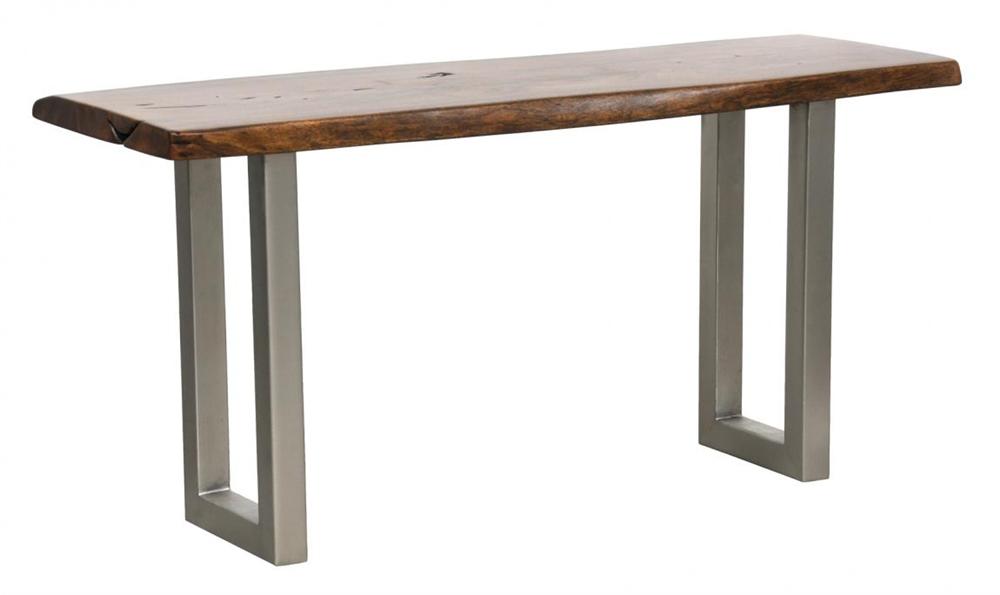 Montana SIlver Metal Leg Console Table