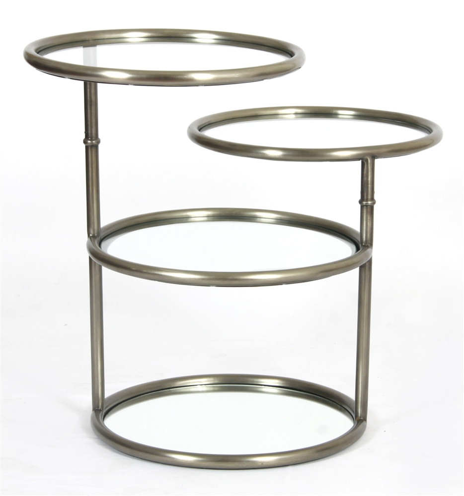 Asher Quincy Side Table Antique Pewter