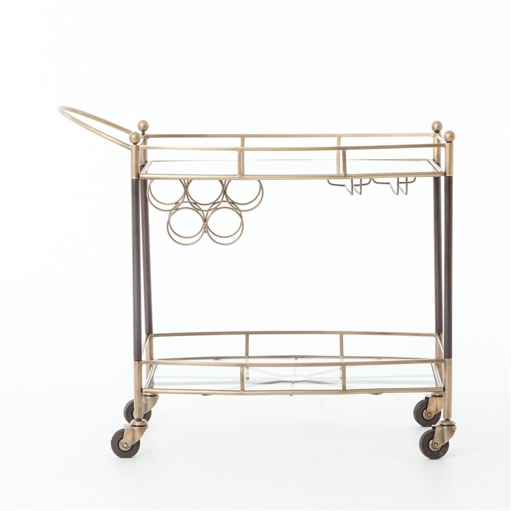 Asher Coles Bar Cart Antique Brass