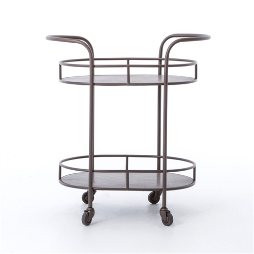 Asher Teague Oval Bar Cart