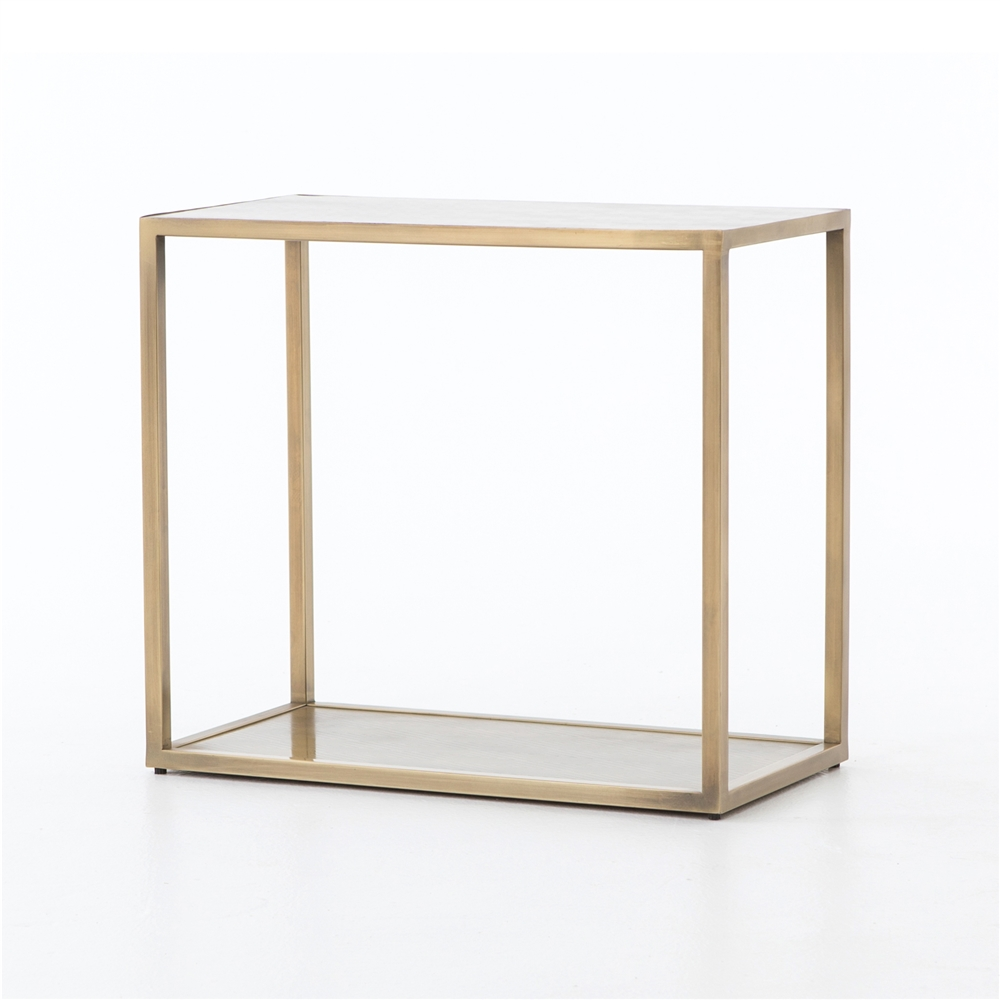 Asher Cutler End Table In Antique Brass