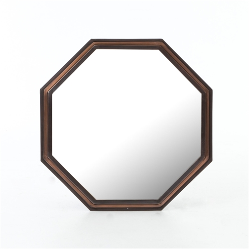 Asher Piper Mirror in Bronze Brass