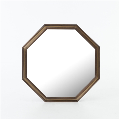Asher Piper Mirror in Brass