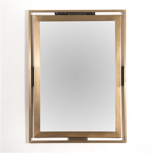 Asher Apollo Mirror in Brass