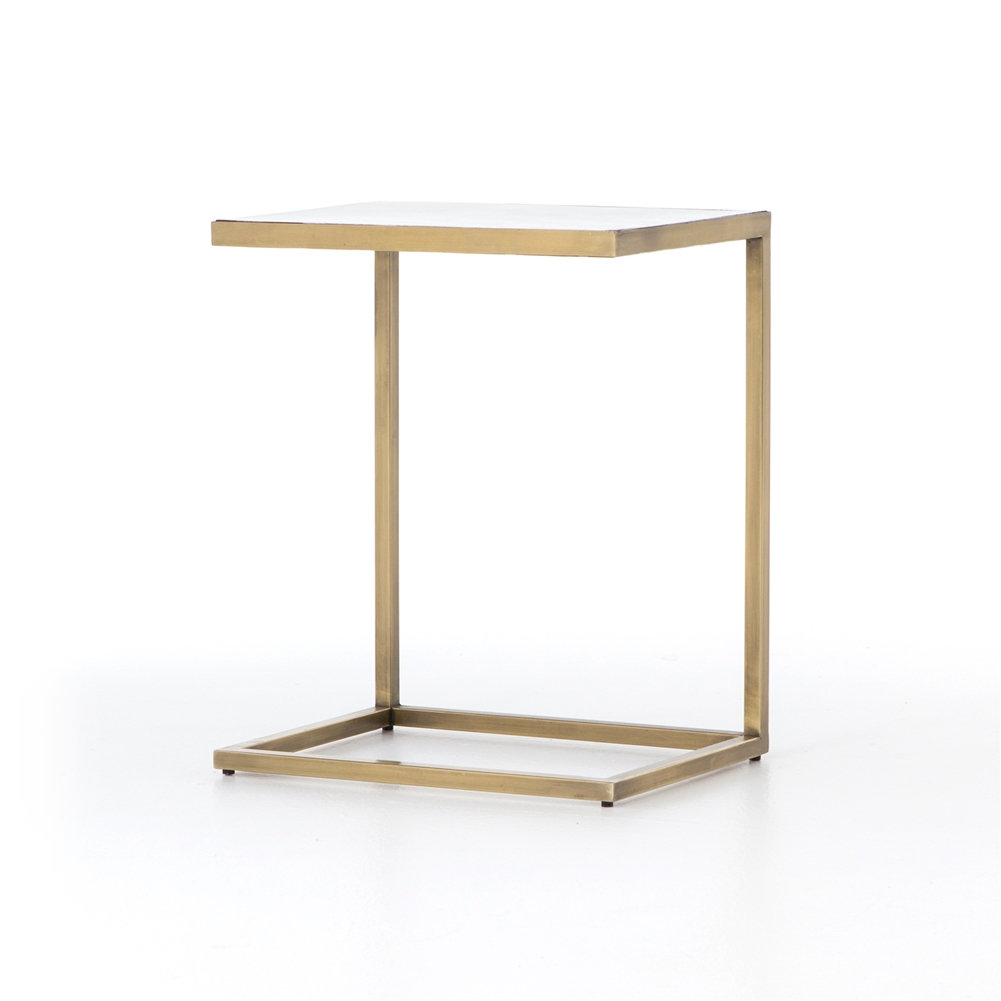 Genial Asher Cutler C Table In Antique Brass
