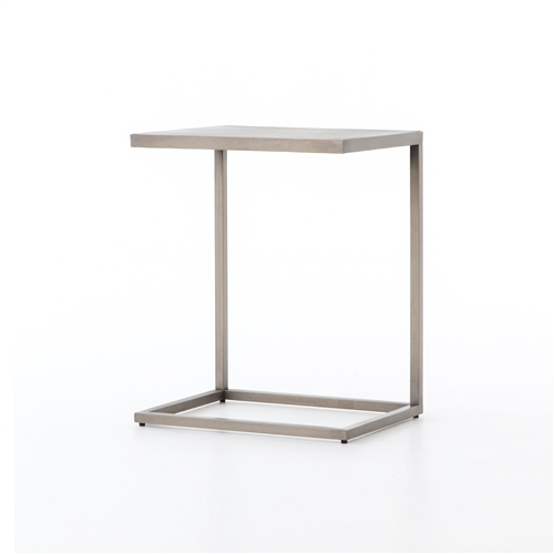 Asher Cutler C Table in Antique Pewter