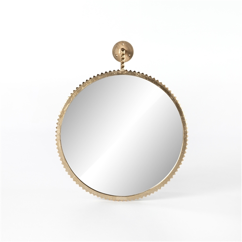 Camden Cru Large Mirror in Aged Gold