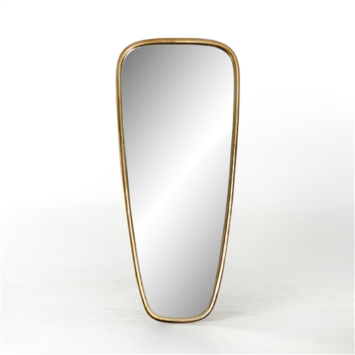 Camden Crescent Mirror in Aged Gold