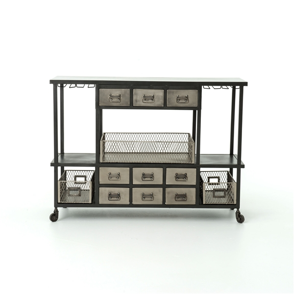 Element Industrial Bar Cart