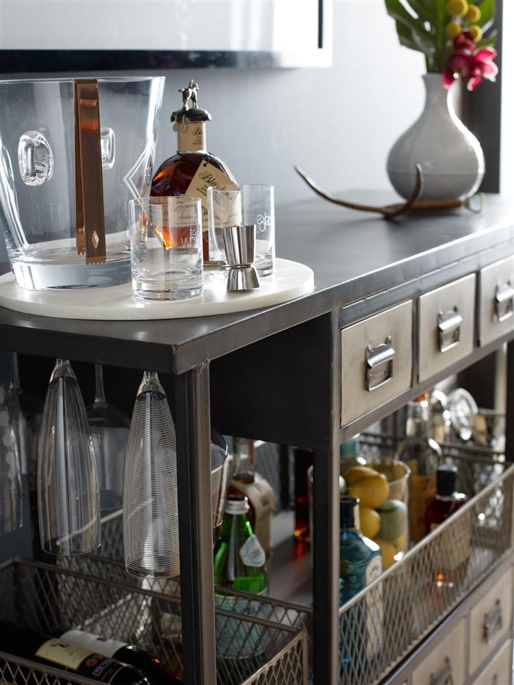 Element Industrial Bar Cart