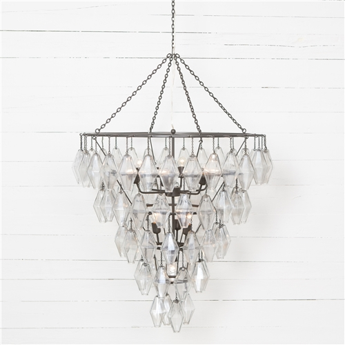 Hutton Adeline Large Round Chandelier-Antique Iron