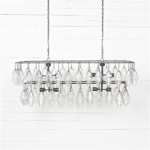 Hutton Adeline Rectangular Chandelier- Antique Iron