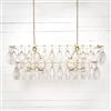 Hutton Adeline Rectangular Chandelier in Gold Leaf