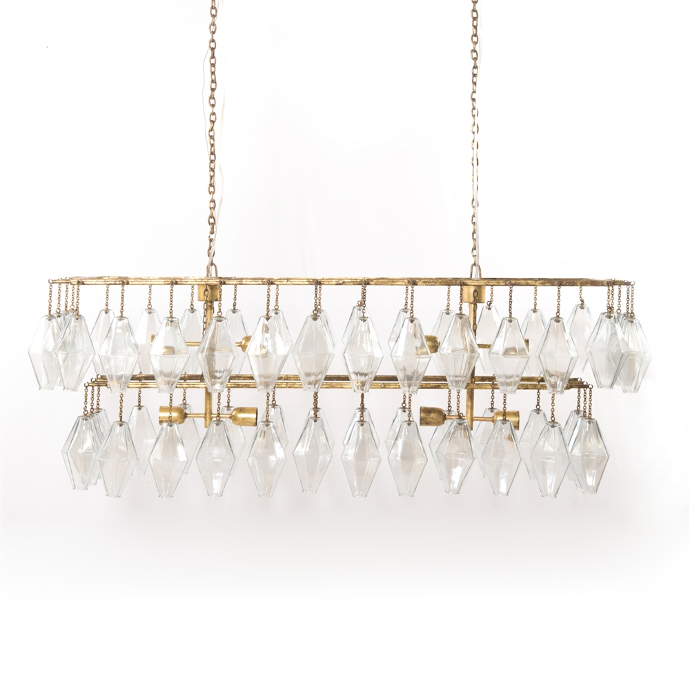 the amazon copper com glass dp chandelier antique drop weston inch crystal rectangular
