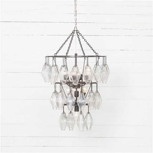 Hutton Adeline Small Round Chandelier in Antique Iron