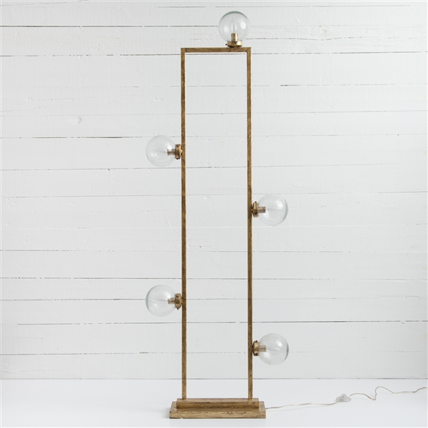 Hutton Clara Floor Lamp in Gold Leaf