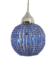 Marrakech Large Crystal Globe-Dark Blue